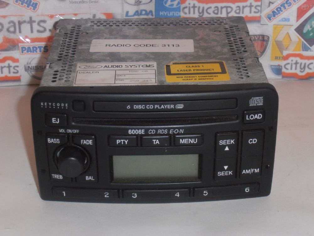 Ford Mondeo Focus Car Stereo 6 Disc Cd Player 6006e Rds